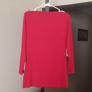 Old Navy Boat Neck Long Sleeve Classic Shirt
